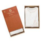 pijama bebé orgánico marrón